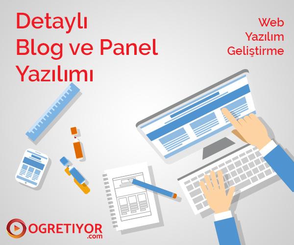 Detaylı Blog Ve Panel Yazılımı