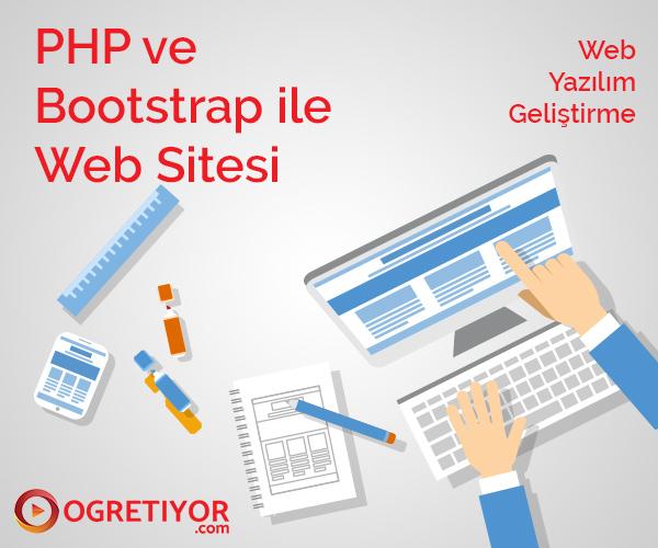 Php ve Bootstrap ile Web Sitesi