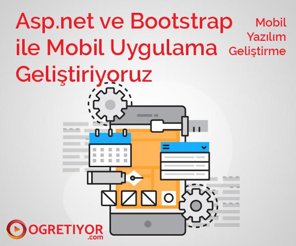 Asp.net ve Bootstrap Kullanarak Mobile Application Geliştiriyoruz